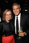 George Clooney and the Chronicle's Molly Glentzer at a dinner and recption for Clooney  at Becca Cason Thrash's home Thursday May 3,2012. (Dave Rossman Photo)