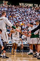 16 March 2019: University of Vermont Catamount Forward Anthony Lamb, a Junior from Toronto, Ontario, is introduced prior to facing the UMBC Retrievers in the America East Championship Game at Patrick Gymnasium in Burlington, Vermont. Lamb was named the Most Outstanding Player for the second time in his career with a game-high 28 points and nine rebounds as the Catamounts defeated the Retrievers 66-49 to avenge their loss against the same team in last years' Championship Game. Mandatory Credit: Ed Wolfstein Photo *** RAW (NEF) Image File Available ***