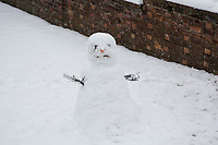 A Snowman <br /> Weather - the Snowfall in High Wycombe, England on 10 December 2017. Photo by Andy Rowland.