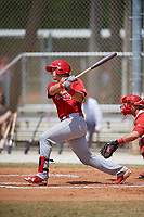 St. Louis Cardinals Andrew Knizner (38) during a minor league Spring Training game against the Washington Nationals on March 27, 2017 at the Roger Dean Stadium Complex in Jupiter, Florida.  (Mike Janes/Four Seam Images)
