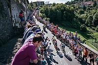 up the steepest section towards the Città Alta in Bergamo<br /> <br /> Stage 15: Valdengo › Bergamo (199km)<br /> 100th Giro d'Italia 2017