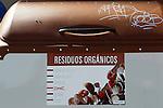 Viana.Navarra.Espana.Viana.Navarra.Spain.Contenedores de recogida selectiva de basuras. Marron, residuos organicos..Containers of garbage collection.Brown, organic waste..(ALTERPHOTOS/Alfaqui/Acero)