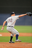Lakeland Flying Tigers pitcher Alex Burgos #20 during a game against the Tampa Yankees at Steinbrenner Field on April 6, 2013 in Tampa, Florida.  Lakeland defeated Tampa 8-3.  (Mike Janes/Four Seam Images)