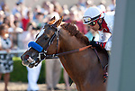 Euroears and Rafael Bejarano win the Bing Crosby Stakes(GI) at Del Mar Thoroughbred Club in Del Mar, CA.  July 31, 2011