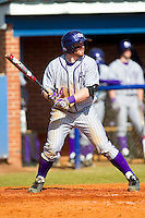 Ryan Retz (34) of the High Point Panthers at bat against the Presbyterian Blue Hose at the Presbyterian College Baseball Complex on March 3, 2013 in Clinton, South Carolina.  The Blue Hose defeated the Panthers 4-1.  (Brian Westerholt/Four Seam Images)