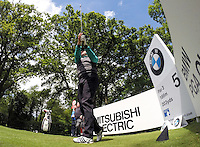 19.05.2015. Wentworth, England. BMW PGA Golf Championship. Practice Day. Graeme Storm on the Par 3 5th Tee during the practice round of the 2015 BMW PGA Championship from The West Course Wentworth Golf Club.