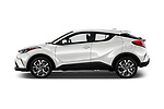 Car Driver side profile view of a 2018 Toyota C-HR XLE-Premium 5 Door SUV Side View