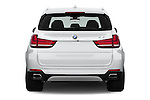 Straight rear view of 2018 BMW X5 xDrive40e 5 Door SUV Rear View  stock images