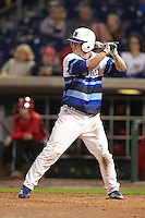 Seton Hall Pirates outfielder Scott Kalamar Jr #24 at bat during a game against the Ohio State Buckeyes at the Big Ten/Big East Challenge at Florida Auto Exchange Stadium on February 18, 2012 in Dunedin, Florida.  (Mike Janes/Four Seam Images)
