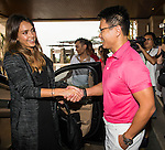 Jessica Alba arives at the Mission Hills Celebrity Pro-Am on 23 October 2014, in Haikou, China. Photo by Aitor Alcalde / Power Sport Images