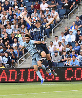 Kansas City, Kansas - Wednesday May 29, 2019: Sporting Kansas City was defeated by the LA Galaxy 0-2 during their Major League Soccer (MLS) match at Children's Mercy Park.