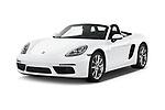 2018 Porsche 718 Boxster Base 2 Door Convertible angular front stock photos of front three quarter view