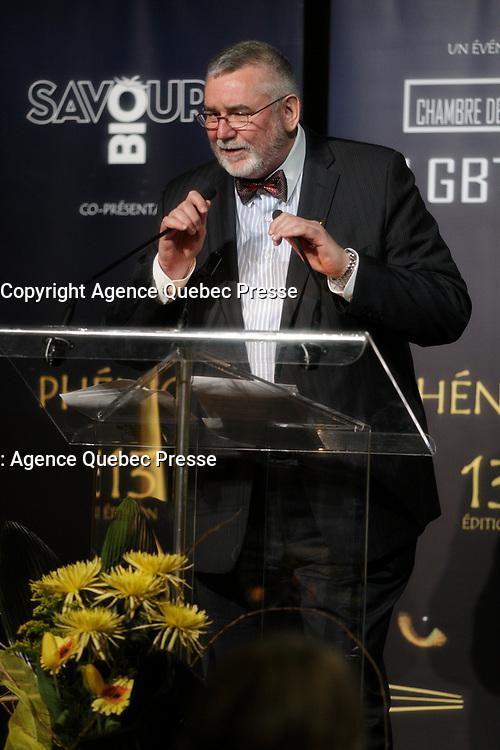 Hommage a Francois Bertrand<br /> au <br /> 13 ieme Gala Phenicia , 25 mai 2017<br /> <br /> PHOTO :  Agence Québec Presse