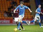 St Johnstone v Hearts..19.12.15  SPFL  McDiarmid Park, Perth<br /> Murray Davidson breaks forward<br /> Picture by Graeme Hart.<br /> Copyright Perthshire Picture Agency<br /> Tel: 01738 623350  Mobile: 07990 594431
