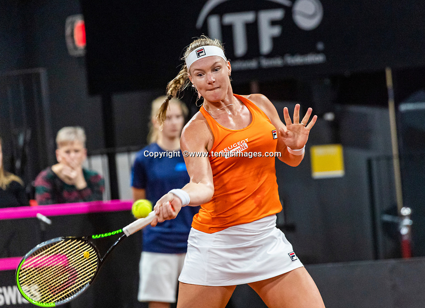 The Hague, The Netherlands, Februari 7, 2020,    Sportcampus, FedCup  Netherlands -  Balarus, Kiki Bertens (NED)<br /> Photo: Tennisimages/Henk Koster
