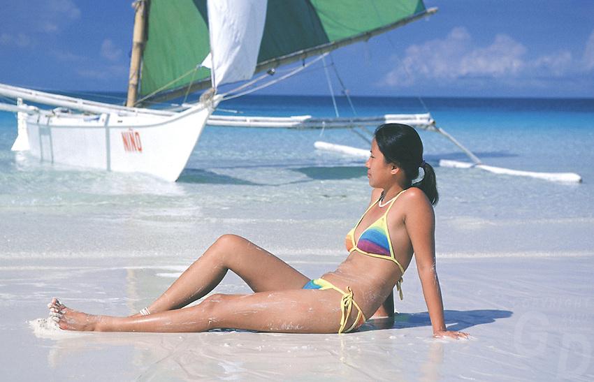 GIRL ON BORACAY ISLAND