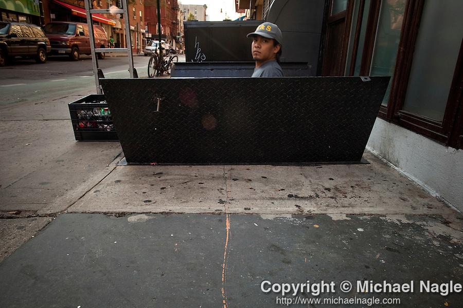 NEW YORK -  SEPTEMBER 13, 2010:   Momo's graffiti tag on Stanton Street on  September 13, 2010 in New York City.  (PHOTOGRAPH BY MICHAEL NAGLE)