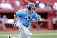 Second baseman Nick Walker (4) of the Old Dominion Monarchs in an NCAA Division I Baseball Regional Tournament game against the Maryland Terrapins on Friday, May 30, 2014, at Carolina Stadium in Columbia, South Carolina. Maryland won, 4-3. (Tom Priddy/Four Seam Images)