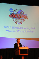 12 December 2007: NCAA Volleyball committee chair Marie Robbins during Stanford's 2007 NCAA Division I Women's Volleyball Final Four Championship Banquet at the California State Railroad Museum in Sacramento, CA.