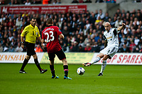Saturday 17 August 2013<br /> <br /> Pictured: Jonjo Shelvey of Swansea<br /> <br /> Re: Barclays Premier League Swansea City v Manchester United at the Liberty Stadium, Swansea, Wales
