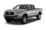 2018 Toyota Tacoma SR5 Access Cab 4 Door Pick Up angular front stock photos of front three quarter view