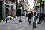 Kids of Madrid paint the shops in the city during the celebration of Children's Day . April 24, 2021. (ALTERPHOTOS/Nazaret Clemente)