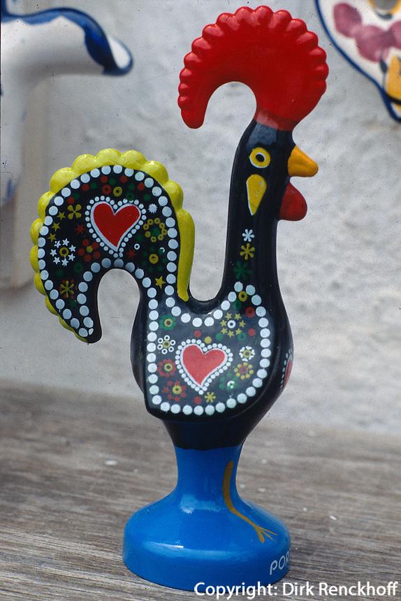 Souvenir aus Portugal, Keramik-Hahn