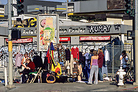 San Francisco, California.  Selling Used Clothes, Valencia Street, Mission District.