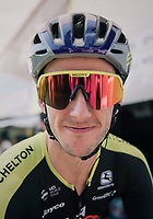 Adam Yates (GBR/Mitchelton-Scott) wearing retro glasses & helmet today in honor of the 60th birtday of bike (and apparel) manufacturer Scott Sports<br /> <br /> Stage 2: Mouilleron-Saint-Germain > La Roche-sur-Yon (183km)<br /> <br /> Le Grand Départ 2018<br /> 105th Tour de France 2018<br /> ©kramon