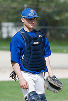 18 April 2006: Mathieu Lapinsky is seen catching during the third of seven 2006 MLB European Academy Try-out Sessions throughout Europe, at Stade Pershing, INSEP, near Paris, France. Try-out sessions are run by members of the Major League Baseball Scouting Bureau with assistance from MLBI staff.