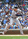 Atlanta Braves Freddie Freeman #5 during a game against the Chicago Cubs on May 14, 2018 at Wrigley Field in Chicago, IL. The Braves beat the Cubs 6-5.