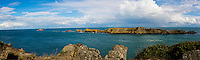 Europe/France/Bretagne/35/Ille et Vilaine/Côte d'Emeraude/Cancale: Pointe du Grouin - Panorama vers l'Ile des Landes //   <br /> // France, Ille et Vilaine, cote d'emeraude (Emerald Coast), Cancale,The Pointe du Grouin   and Landes Island