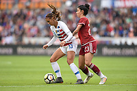 Houston, TX - Sunday April 8, 2018: Alex Morgan, Christina Murillo during an International friendly match versus the women's National teams of the United States (USA) and Mexico (MEX) at BBVA Compass Stadium.