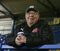 Fleetwood Town's fan ahead of uring the The Checkatrade Trophy match between Bury and Fleetwood Town at Gigg Lane, Bury, England on 9 January 2018. Photo by Juel Miah/PRiME Media Images.