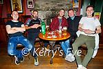 Enjoying the evening in the White Sands in Ballyheigue on Sunday, l to r: Ger O'Hanlon, Tony Goggin, Keith Hehir, Derek Osbourn and Paudie Carroll.