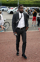 Pictured: Nathan Dyer arrives Wednesday 20 May 2015<br /> Re: Swansea City FC Awards Dinner at the Liberty Stadium, south Wales, UK