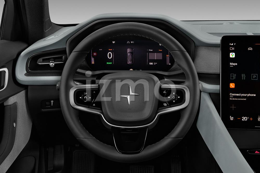 Car pictures of steering wheel view of a 2020 Polestar Polestar-2 Pilot-Plus 5 Door Hatchback Steering Wheel