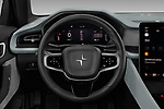 Car pictures of steering wheel view of a 2020 Polestar Polestar-2 Pilot-Plus 5 Door Hatchback Steering Wheel