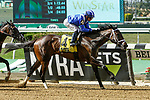 JUNE 26, 2021: Zaajel, #4, ridden by Joel Rosario, scores the upset to win the Gr. 2 Mother Goose Stakes for 3-year old fillies, at Belmont Park in Elmont, New York. Sue Kawczynski/Eclipse Sportswire/CSM