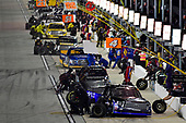 NASCAR Camping World Truck Series<br /> TheHouse.com 225<br /> Chicagoland Speedway, Joliet, IL USA<br /> Friday 15 September 2017<br /> Ryan Truex, ADVICS / AISIN Toyota Tundra and the rest of the field make pit stops<br /> World Copyright: Logan Whitton<br /> LAT Images