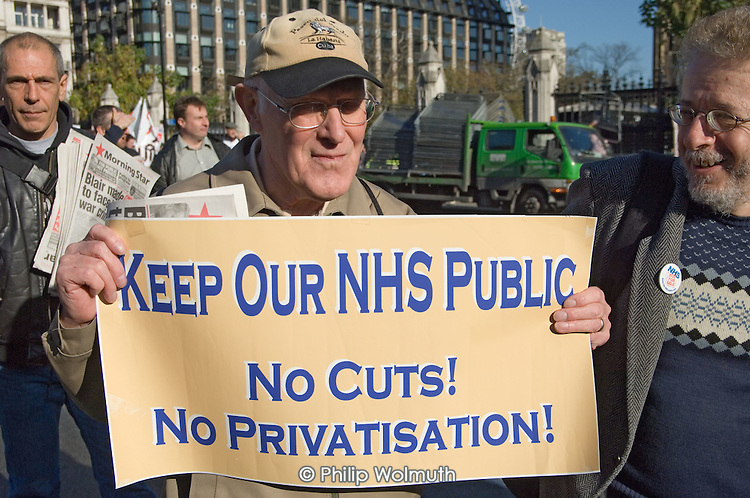 NHS Together lobby of Parliament to protest at job cuts and privatisation