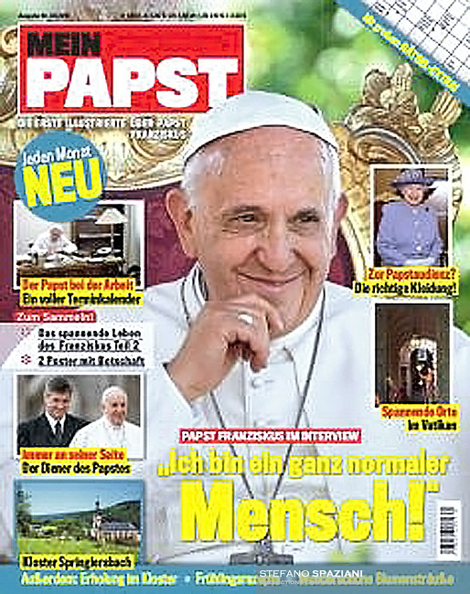 Mein Papst German Magazine Pope Francis.Photograph by Stefano Spaziani.