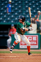 Greensboro Grasshoppers designated hitter Cameron Baranek (7) at bat during a game against the Lakewood BlueClaws on June 10, 2018 at First National Bank Field in Greensboro, North Carolina.  Lakewood defeated Greensboro 2-0.  (Mike Janes/Four Seam Images)