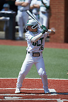 Nate Furman (16) of the Charlotte 49ers at bat against the UTSA Roadrunners at Hayes Stadium on April 18, 2021 in Charlotte, North Carolina. (Brian Westerholt/Four Seam Images)