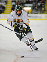 19 January 2008: University of Vermont Catamounts' forward Jonathan Higgins, a Sophomore from Stratham, NH, in action against the Northeastern University Huskies at Gutterson Fieldhouse in Burlington, Vermont. The Catamounts defeated the Huskies 5-2 to close out their 2-game weekend series...Mandatory Photo Credit: Ed Wolfstein Photo