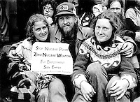 Coalition for a Non Nuclear World Sit In at the Pentagon April 1980