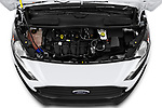 Car Stock 2021 Ford Transit-Connect XL 4 Door Car Van Engine  high angle detail view
