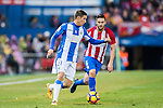 Alexander Szymanowski of Deportivo Leganes is chased by Jorge Resurreccion Merodio, Koke, of Atletico de Madrid during their La Liga match between Atletico de Madrid and Deportivo Leganes at the Vicente Calderón Stadium on 04 February 2017 in Madrid, Spain. Photo by Diego Gonzalez Souto / Power Sport Images