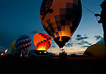 Hot balloons at balloon glow at Balloon Fest in Middletown, OH
