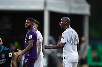 LAKE BUENA VISTA, FL - JULY 31: Bradley Wright-Phillips #66 of LAFC celebrates a non goal during a game between Orlando City SC and Los Angeles FC at ESPN Wide World of Sports on July 31, 2020 in Lake Buena Vista, Florida.